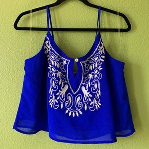 Vibrant Blue Cropped Top